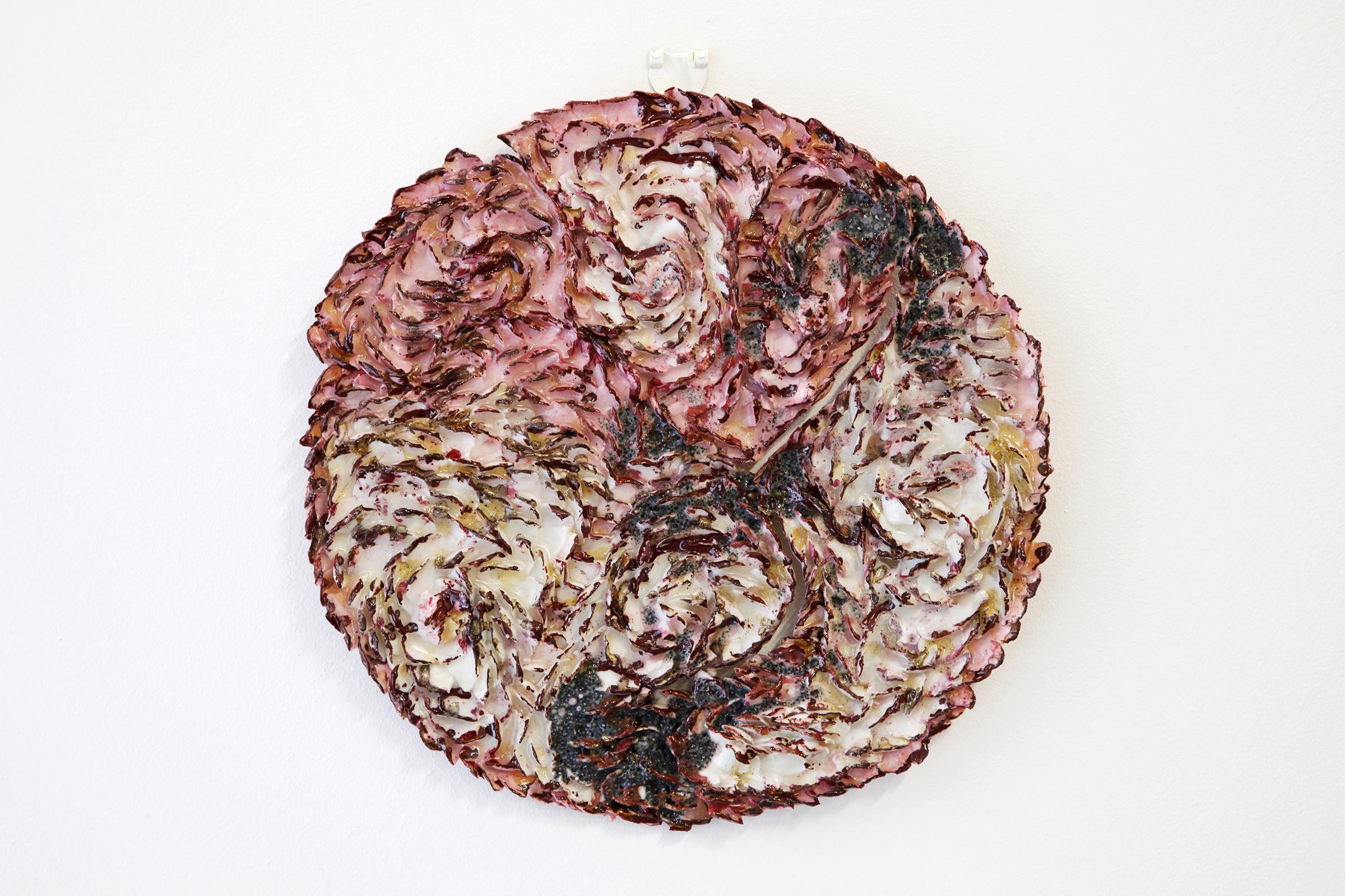 Wen-Hsi Harman, Land, porcelain, enamel, lustre, 32 x 31 x 2 cm, 2015